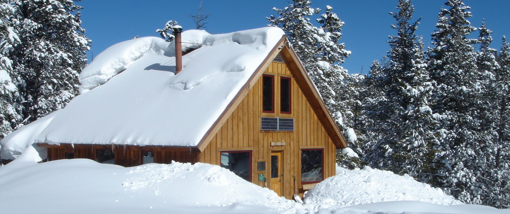 McNamara Hut buried in snow
