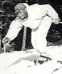 Bud skiing